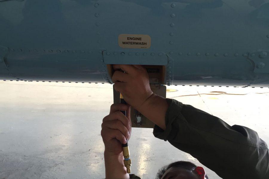 looking underneath plane