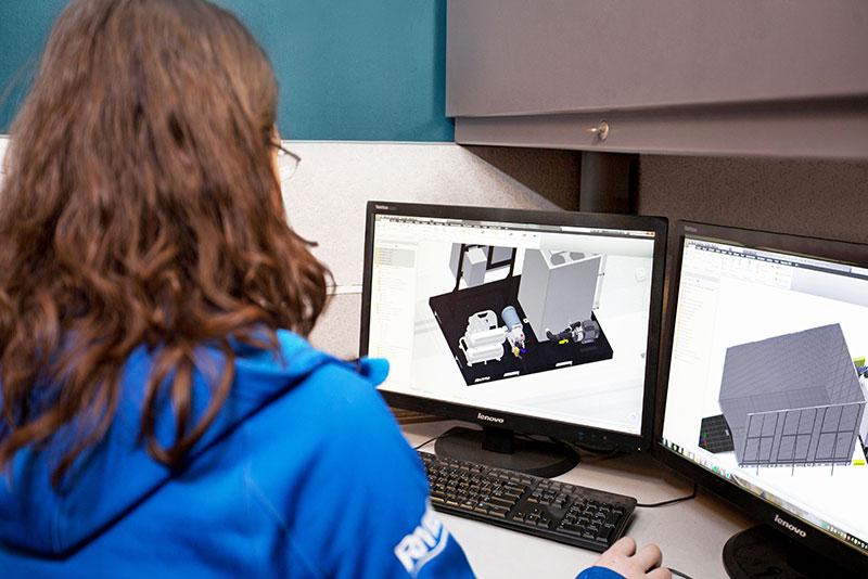 employee on computer