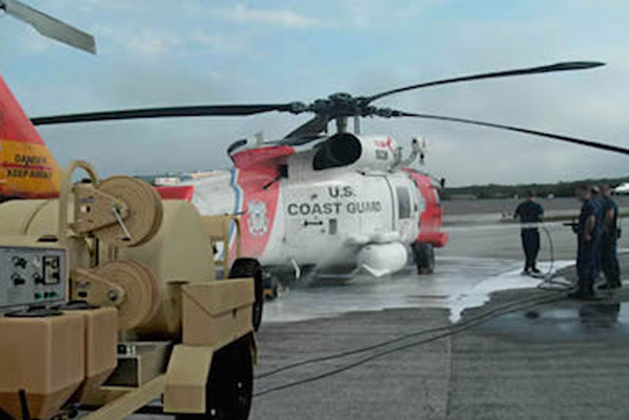 TAWS next to coast guard helicopter