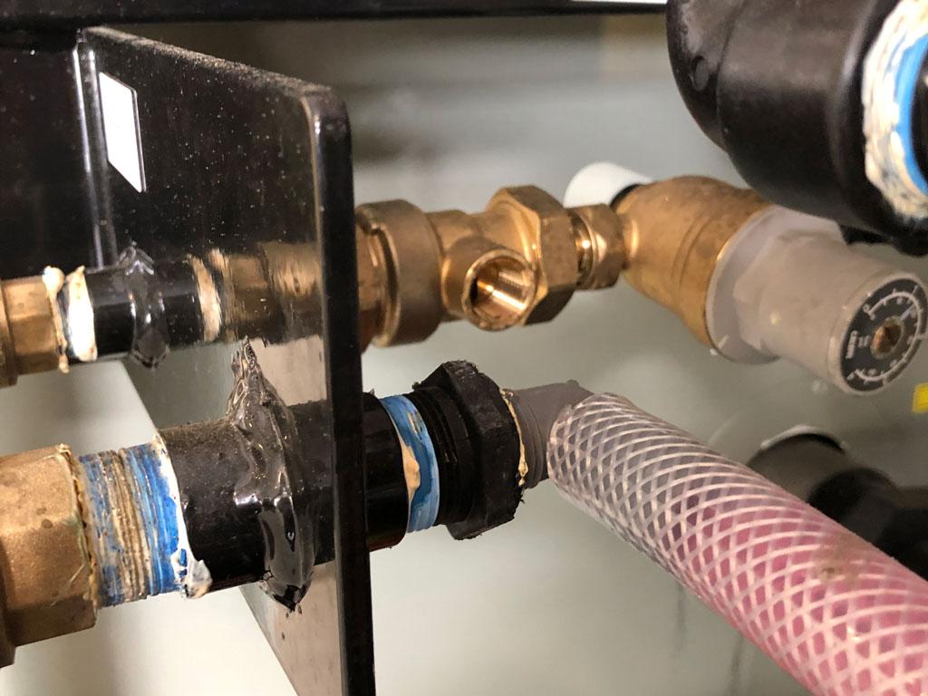 close-up of wingmang hose