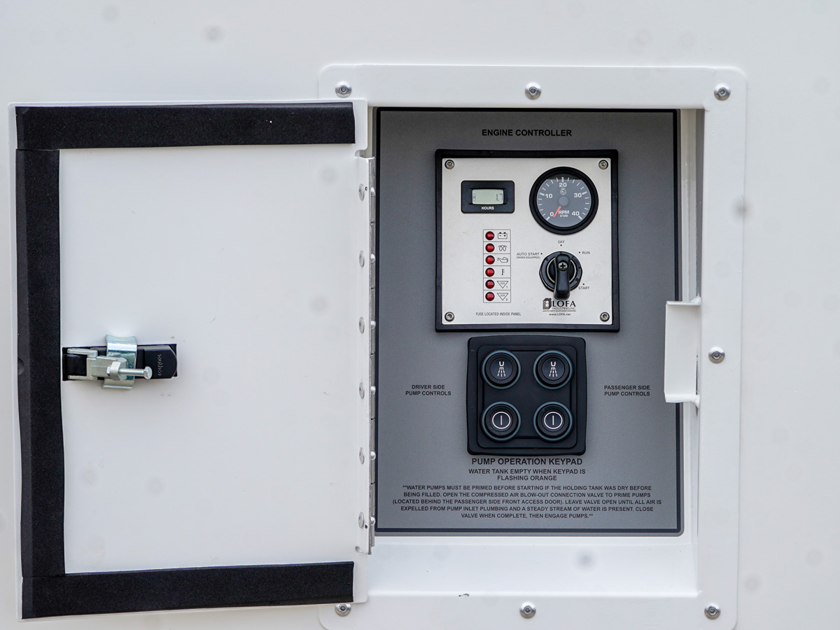 control panel of the ARC